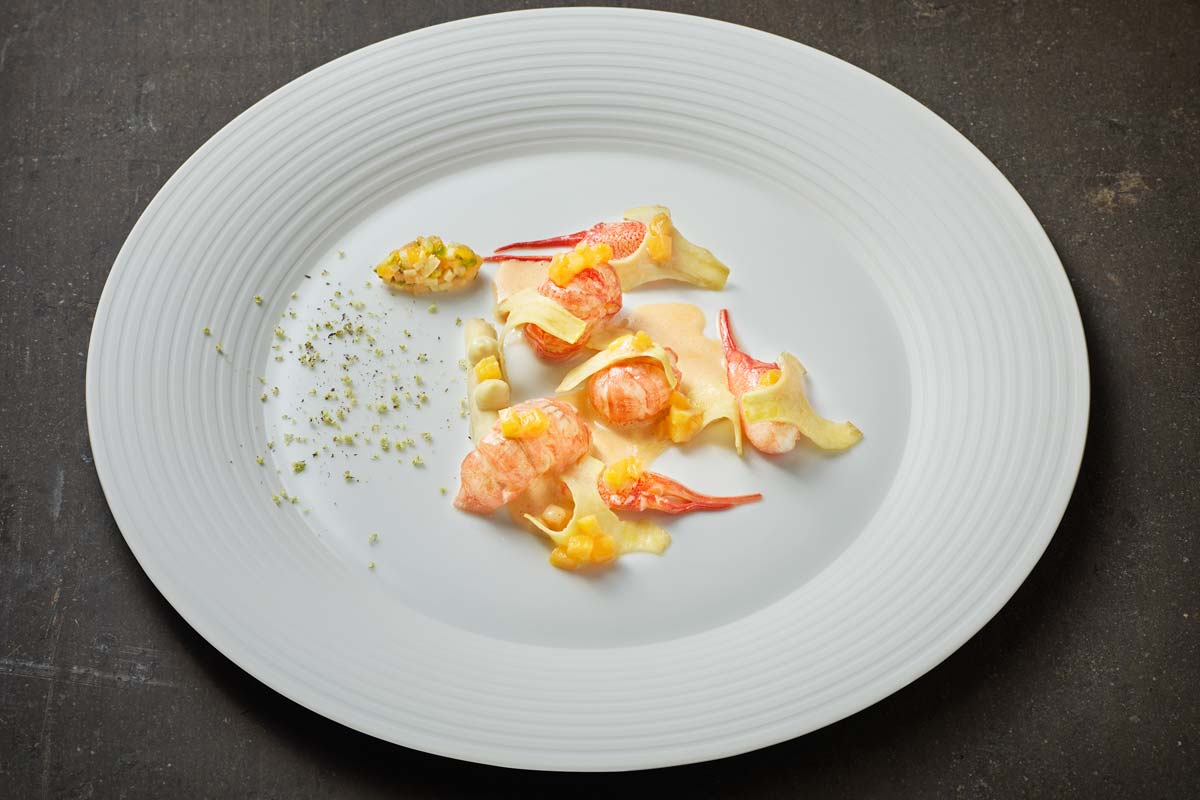 Koenigshof - Crayfish with artichoke